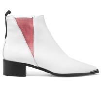 Jensen Ankle Boots Aus Leder - Weiß