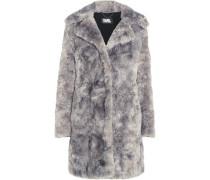 Mantel Aus Faux Fur - Hellgrau