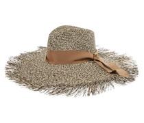 Zweifarbiger Hut aus Toquilla-stroh mit Fransen -
