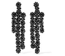 Vergoldete Ohrringe Mit Kristallen - Schwarz