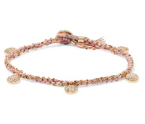 Coin Rose Armband aus 14 Karat Gold mit Diamanten -