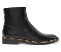 Chelsea Boots Aus Leder Mit Kettenverzierung -