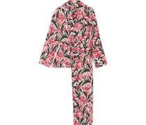 Odette Bedruckter Pyjama Aus Vorgewaschener Seide -