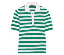 Gestreiftes Polohemd Aus Einer Kaschmir-seidenmischung - Grün