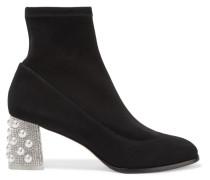 Felicity Verzierte Sock Boots Aus Veloursleder -