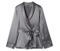 Kyoto Nights Pyjama-oberteil aus Stretch-seidensatin -
