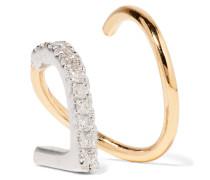 Bela Blanc Twirl Ohrring Aus 18 Karat Gold Mit Rhodiumauflage Und Diamanten