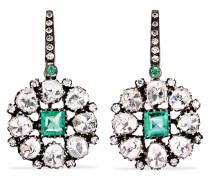 Ohrringe Aus 18 Karat Gold Und Sterling Mit Diamanten Und Smaragden