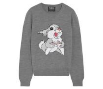 Thumper Paillettenbesetzter Pullover Aus Merinowolle - Grau