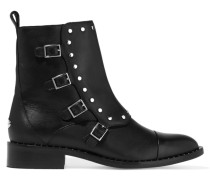 Baxter Nietenverzierte Ankle Boots Aus Leder - Schwarz