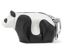 Panda Taschenanhänger Aus Leder - Schwarz
