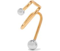 Illusion Ear Cuff Aus Silber Mit Goldauflage