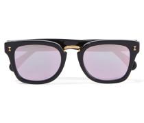 Positano Verspiegelte Sonnenbrille Mit Eckigem Rahmen Aus Azetat -