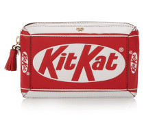 Kit Kat® Clutch Aus Strukturiertem Leder - Rot