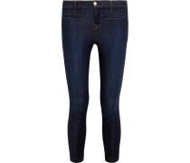 Skeyla Verkürzte Halbhohe Skinny Jeans - Dunkler Denim