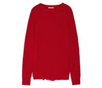Oversized-pullover Aus Einer Woll-kaschmirmischung In Distressed-optik -