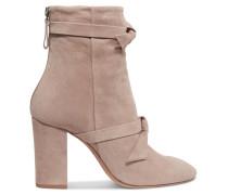 Lorraine Ankle Boots Aus Veloursleder Mit Schleifendetails -