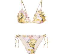 Valour Triangel-bikini Mit Floralem Print Und Stickerei -