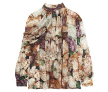 Bluse aus Seiden-Georgette mit floralem Print