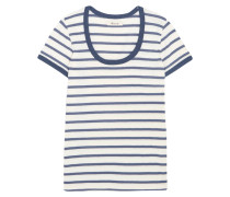 Grayson Gestreiftes T-shirt Aus Baumwoll-jersey -