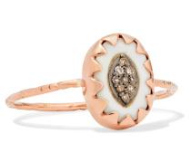 Montauk Ring Aus 9 Karat  Mit Bakelit® Und Diamanten