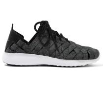 Juvenate Premium Gewebte Sneakers Mit Kunstledereinsätzen -