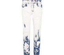 Boyfriend-jeans In Distressed-optik - Mittelblauer Denim