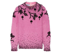Pullover aus einer Mohairmischung mit Zierperlen -