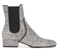 Monty Chelsea Boots Aus Leder Mit Glitter-finish - Silber
