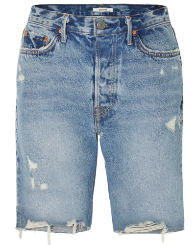 Marjan Jeansshorts in Distressed-optik
