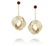 Vergoldete Ohrringe mit Kristallen