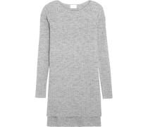 Gerippter Pullover Aus Einer Baumwollmischung - Grau
