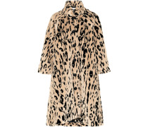 Oversized-mantel Aus Faux Fur Mit Tierprint -