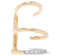 Laurel Blanc Ear Cuff Aus 18 Karat  Mit Rhodiumauflage Und Diamanten