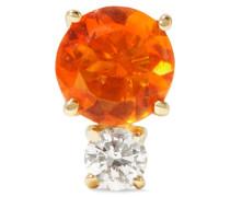 Ohrring Aus 18 Karat  Mit Opal Und Einem Diamanten