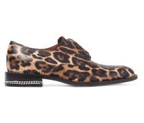 Brogues Aus Leder Mit Leopardenprint Und Kettenverzierung - Leoparden-Print