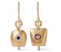 Belle Mittelgroße Vergoldete Ohrringe Mit Cubic Zirkonia-steinen