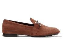 Loafers Aus Veloursleder - Braun