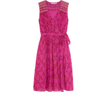 Bali Kleid Aus Seiden-georgette Mit Floralem Print - Fuchsia