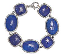 Armband Aus Sterling Mit Lapislazuli Und Diamanten