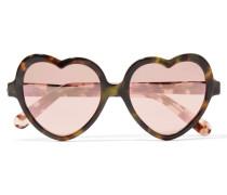 Love Bite Verspiegelte Sonnenbrille Aus Azetat -