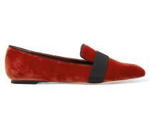 Loafers Aus Samt - Ziegelrot