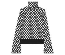 Rollkragenpullover Aus Jacquard-strick Mit Polka-dots -