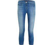 Skeyla Verkürzte Halbhohe Skinny Jeans - Mittelblauer Denim