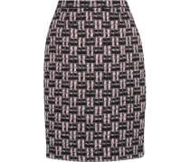 Bleistiftrock Aus Bouclé-tweed In Metallic-optik - Pink