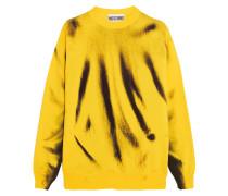 Bedruckter Wollpullover - Gelb