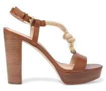 Holly Plateau-sandalen Aus Leder Mit Seilbesatz - Braun