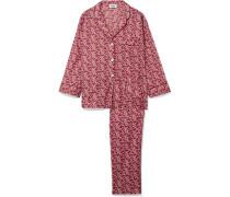 Marina Pyjama Aus Floral Bedruckter Baumwolle -