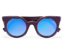 Verspiegelte Sonnenbrille Mit Cat-eye-rahmen Aus Azetat - Lila