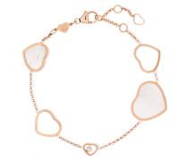 Happy Hearts Armband aus 18 Karat  mit Einem Diamanten und Perlmutt